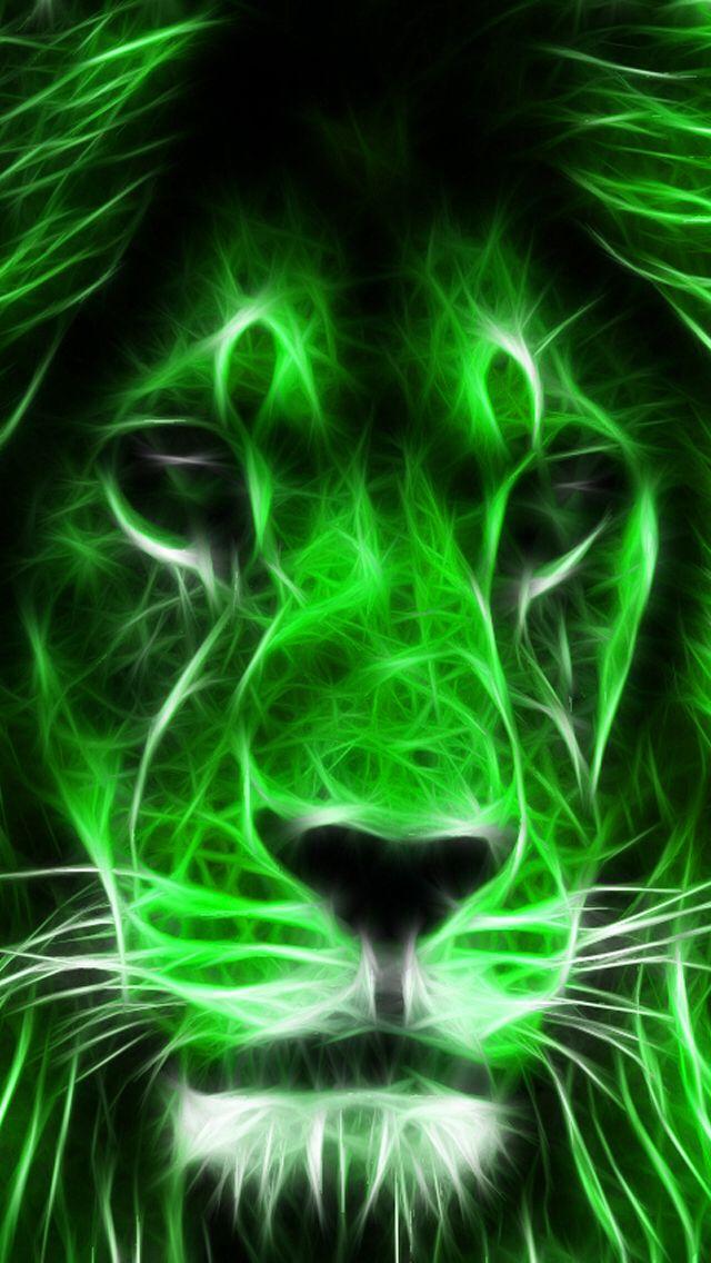 Green Lion Lion Art Lion Painting Big Cats Art
