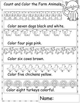 Farm Theme Math Worksheets For Your Farm Theme Distance Learning Farm Unit Farm Animals Preschool Kindergarten Farm Theme