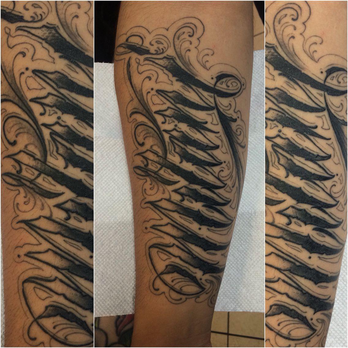 Tattoo by @colorsoner713 Cursive lettering script custom ...