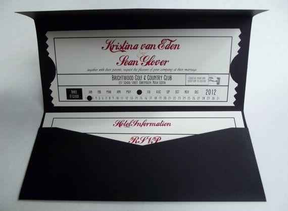 Vintage Inspired Movie Ticket Wedding by PerfectPairWeddings, $8.00