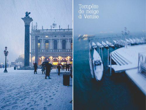 Venise… sous la neige