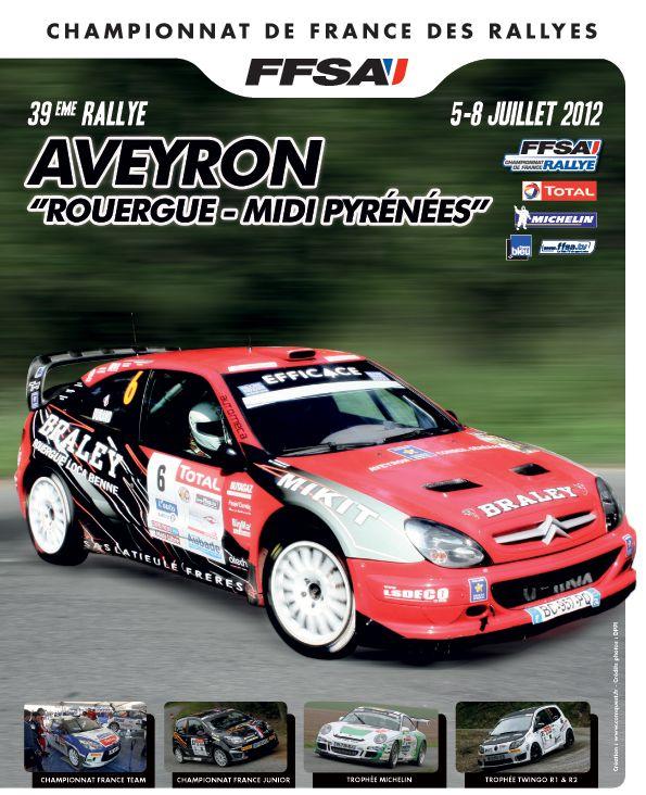 Le Rallye Aveyron Rouergue Midi Pyrénées, 5e manche du Championnat de France des Rallyes