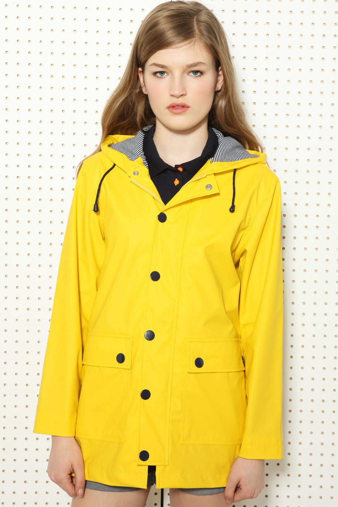 Petit Bateau Yellow Raincoat at Urban Outfitters | Coats ...