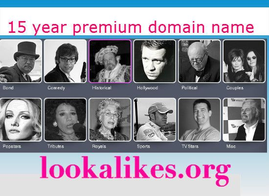 LOOKALIKES.ORG 15 YR PREMIUM DOMAIN NAME FOR SALE  $49.00