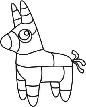 donkey pinata outline template summer fun pinterest embroidery