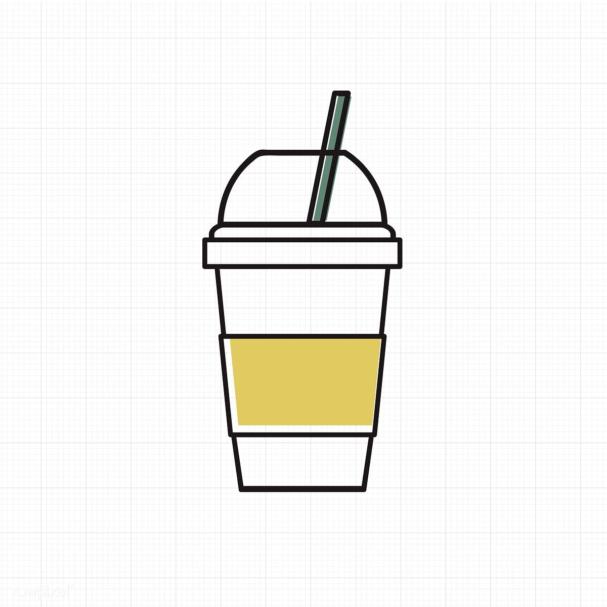 Vector of cold drink cup icon free image by