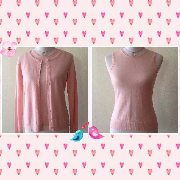 Gap Pink Sweater Set  Merino Wool Size M  Gap Soft Pink Merino Wool Sweater Set in like New Condition in size M.  GAP Sweaters Cardigans