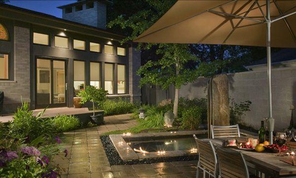 garten design ideen - coole und originelle ideen für beleuchtung, Moderne deko