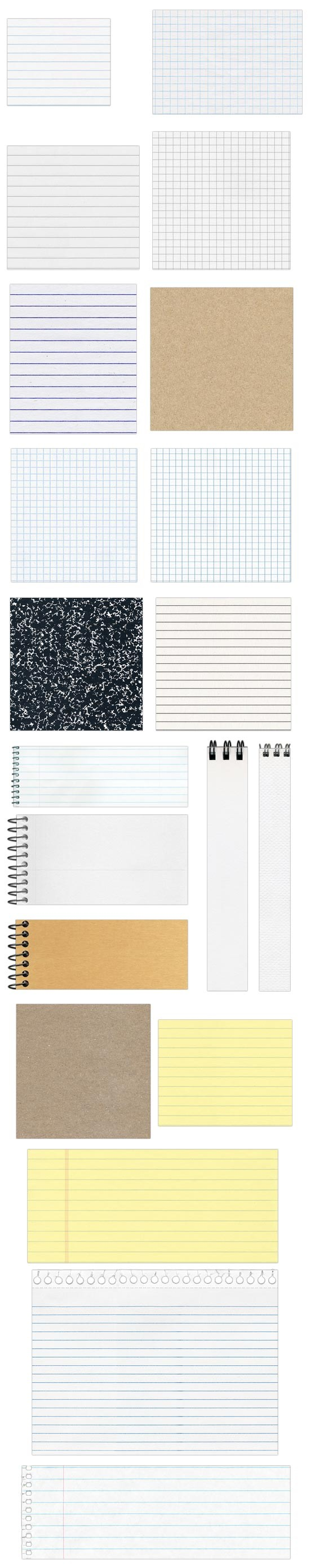 Free Seamless Notebook Paper Textures - from Fuzzimo