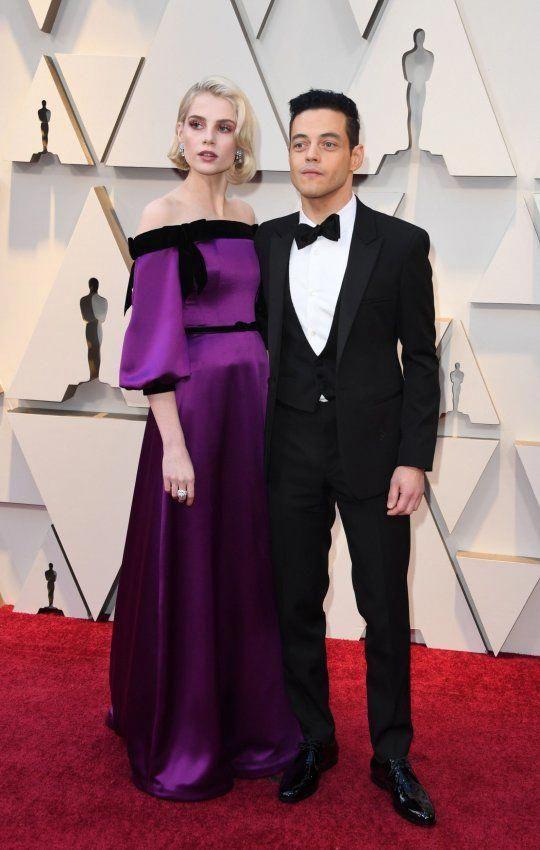 Bohemian Rhapsody's Rami Malek and Lucy Boynton are ultimate couple at Oscars #academyaward