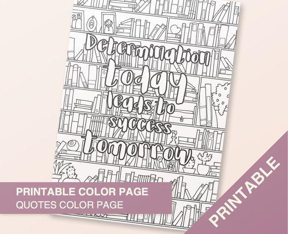 Inspirational Coloring Quotes Printable Di BumbleBeasy Su Etsy