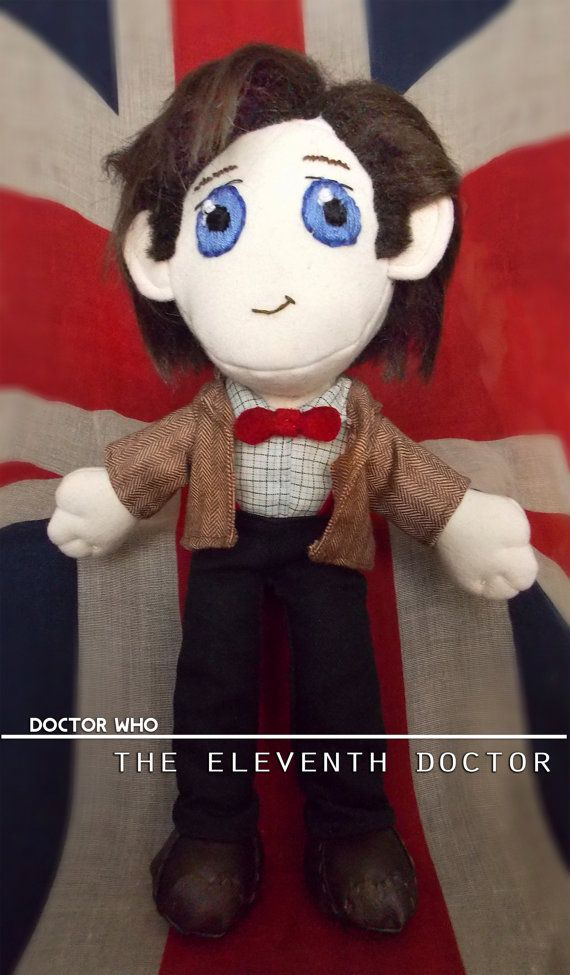 Doctor Who Eleventh Doctor Plush Doll Plushie by LadyAndTheLion, €58.00