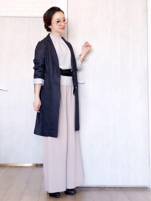 先日の仕事着です。 ブランバスクのデニムジャケット、 すっきり綺麗なシルエットで気に入ってます。 ブ