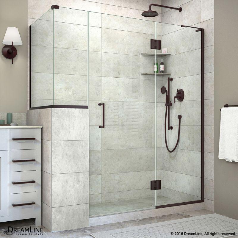 Dreamline E324123440r Unidoor X 72 High X 60 Wide X 40 3 8 Deep Right Hinged Oil Rubbed Bron Shower Remodel Bathroom Remodel Master Corner Shower Enclosures