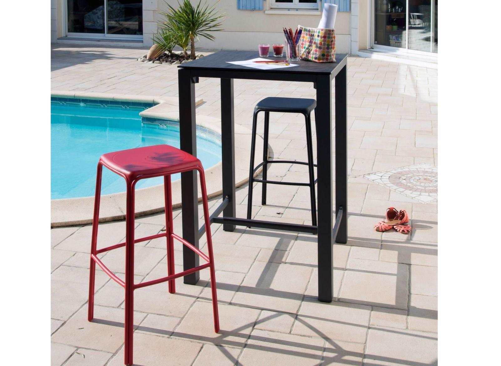 ee3b5d5db1c48e Mange-debout Stoneo 70 cm, plateau HPL - Tables hautes de jardin -  Proloisirs
