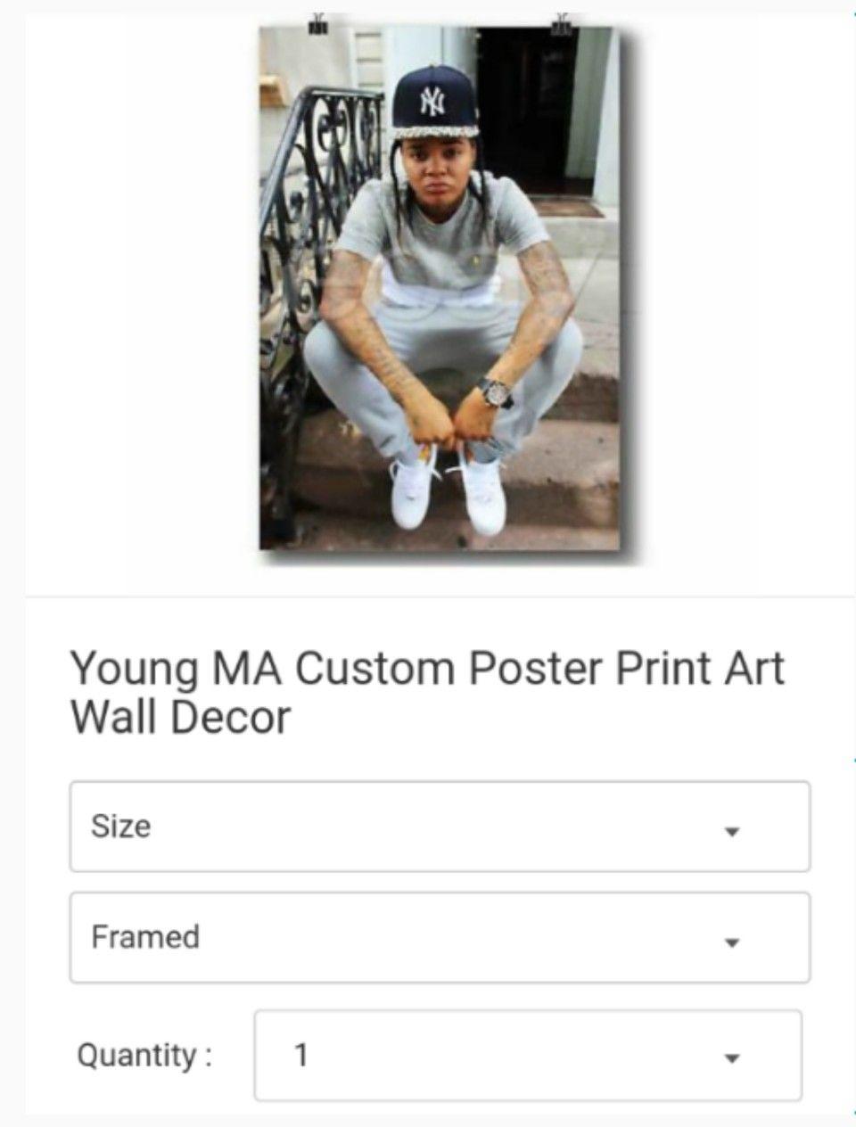 Young MA Custom Poster Print Art Wall Decor