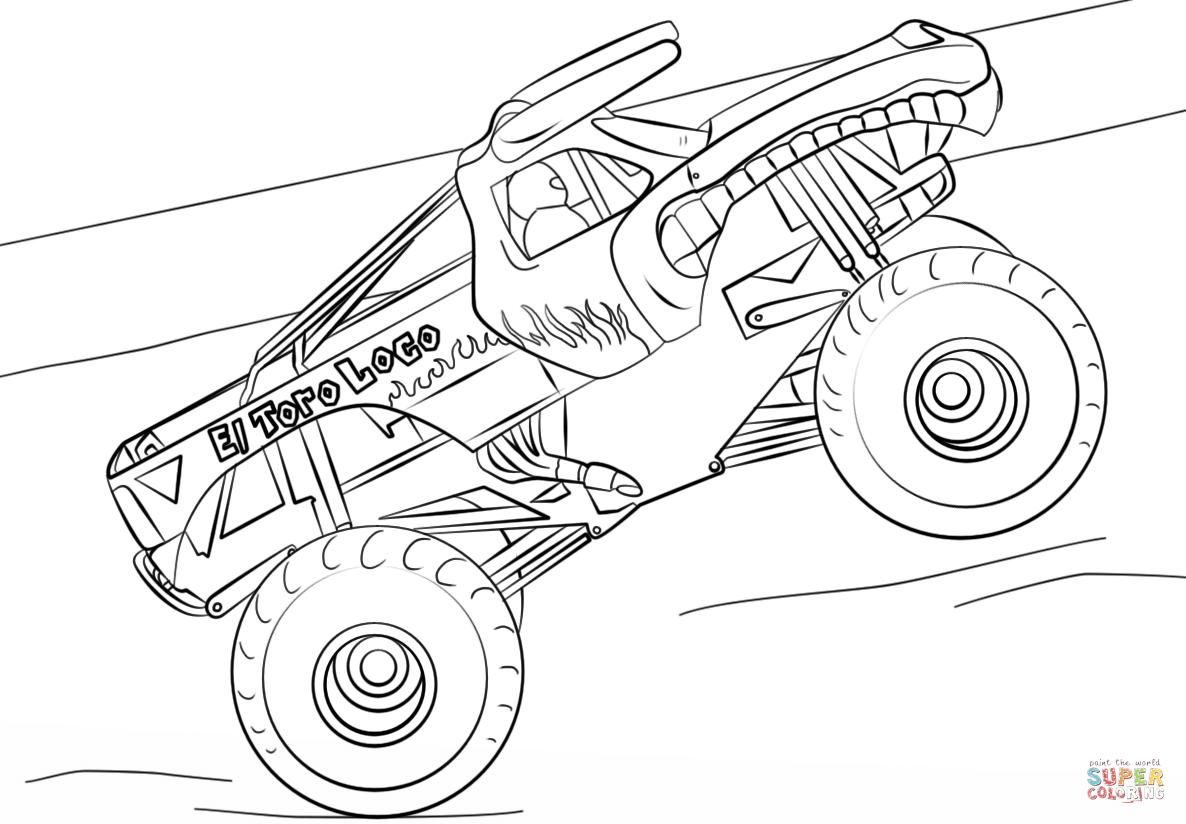 42 Coloring Page Monster Truck Monster Truck Coloring Pages Truck Coloring Pages Shark Coloring Pages