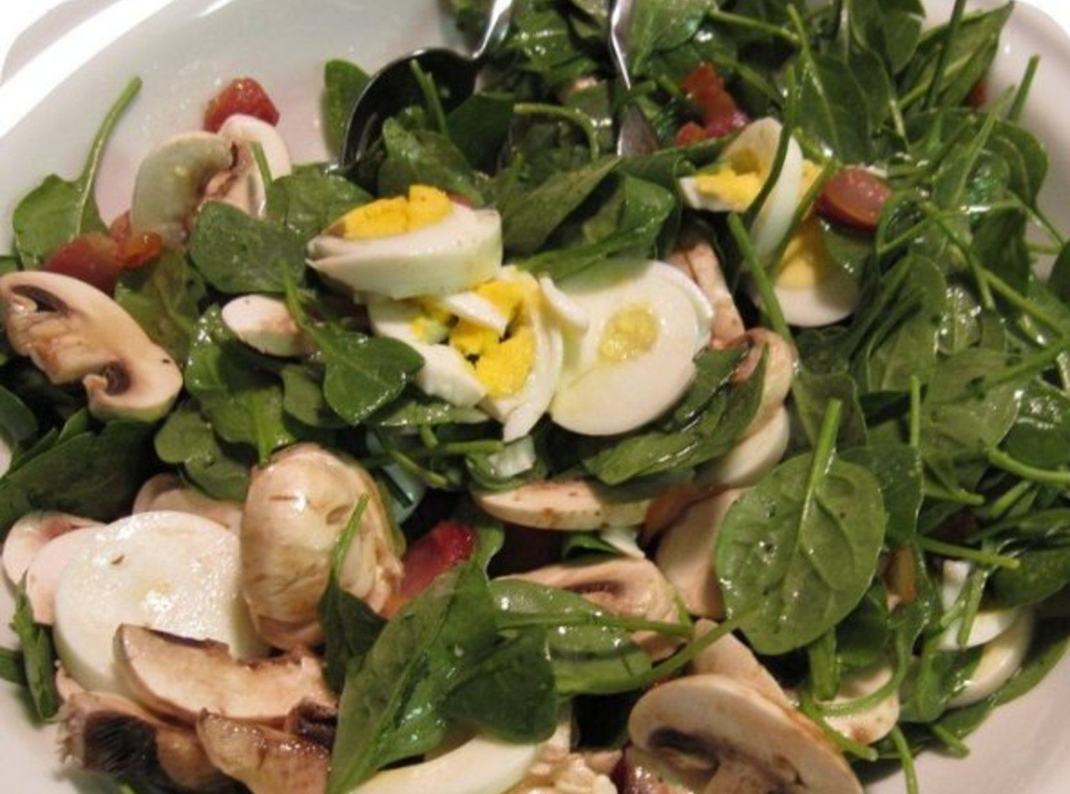 Spinach salad Recipe Recipes Pinterest Spinach