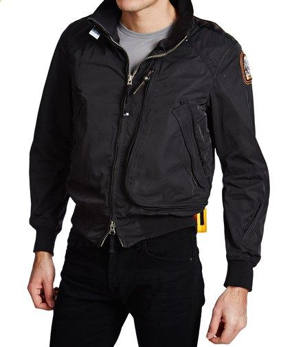 parajumpers bomber jacket black