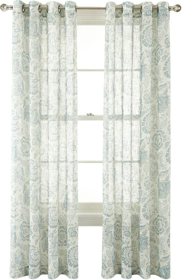 Martha Marthawindowtm Tuileries Grommet Top Sheer Panel Window Curtains Treatments