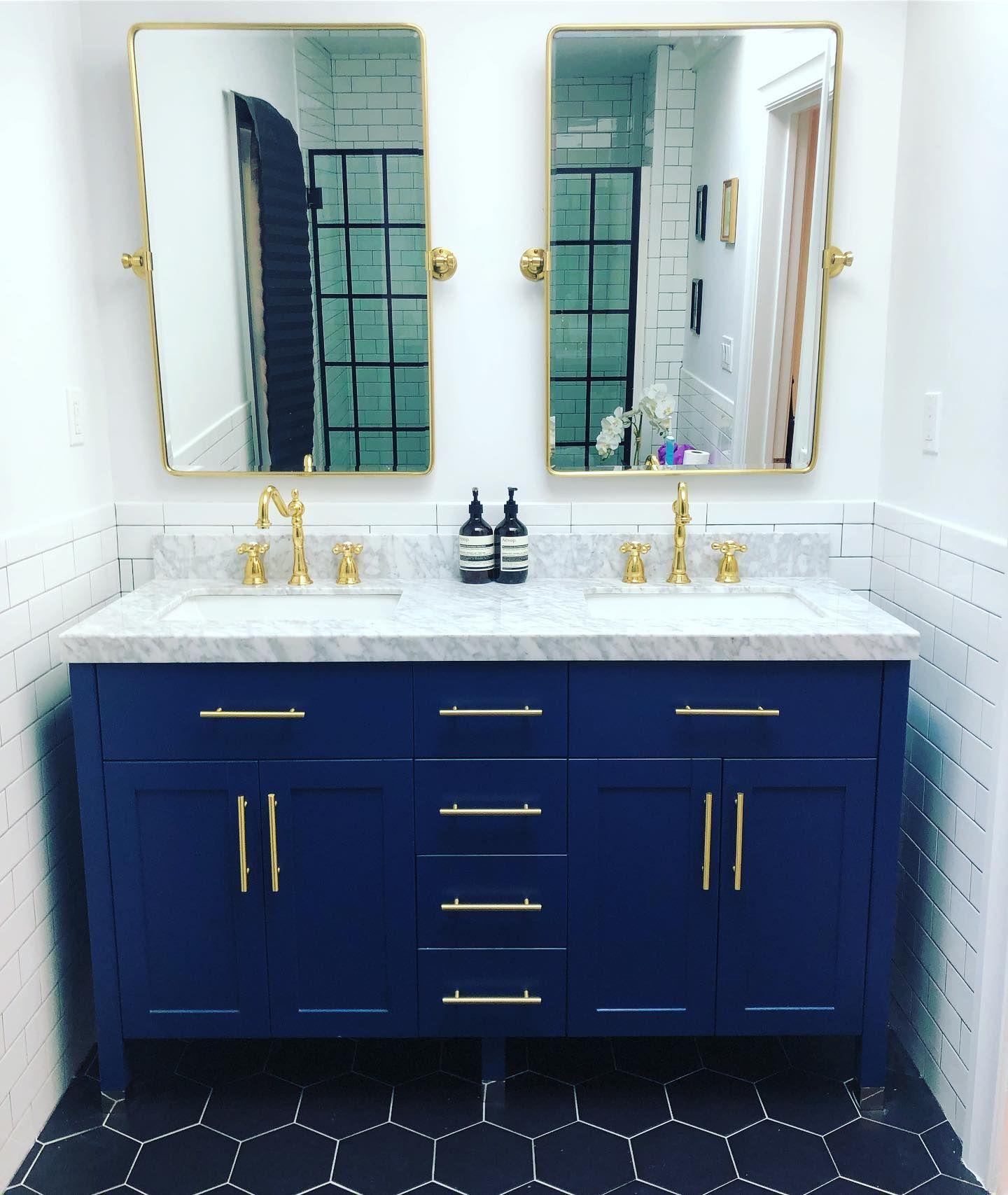 Victorian Widespreace Bathroom Faucet Metal Cross Handles Blue Bathroom Vanity Small Bathroom Bathroom Vanity