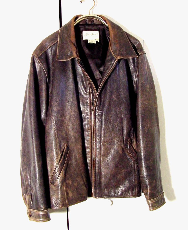 Men's Clothing Mens Biker Motorcycle Vintage Distressed Brown Bomber Winter Leather Jacket Clothing, Shoes & Accessories