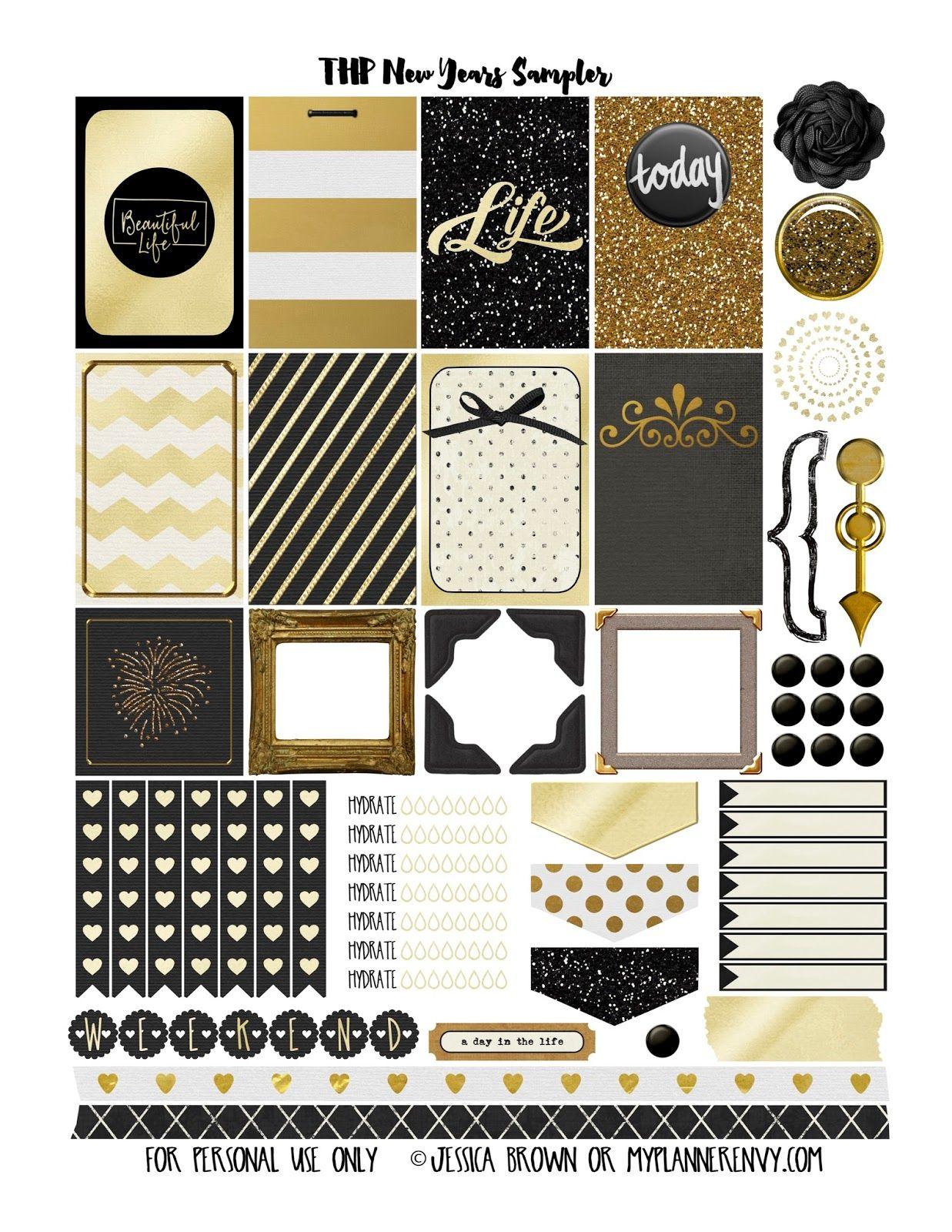 My planner envy new years sampler free planner printable graphics pinterest free for Pinterest printables