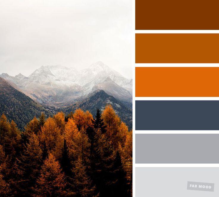 59 hübsche Herbstfarbenschemata {Smokey + burnt orange Farbpalette}