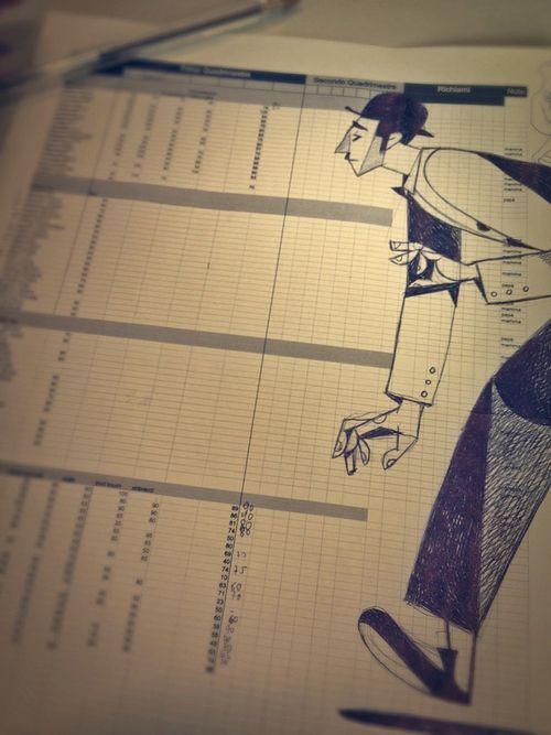 """""""Attore di cinema muto su documento con elenco a più voci."""" bic su doc - Riccardo Guasco 2013"""