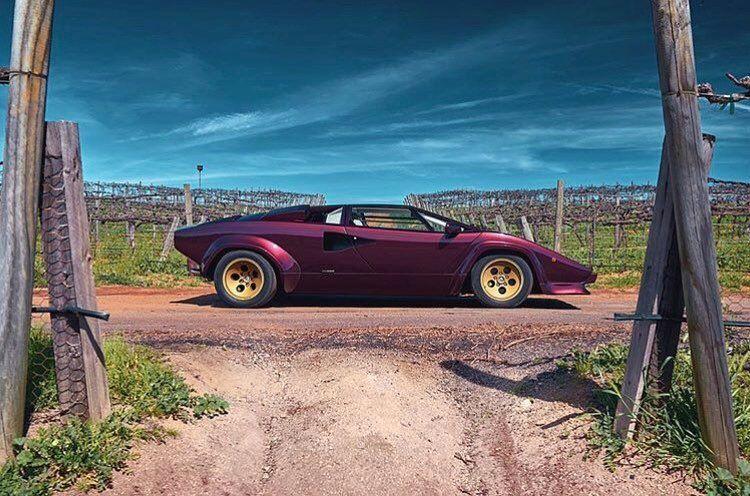 Car Vintage Purple Rain Lamborghini Countach Www Carandvintage