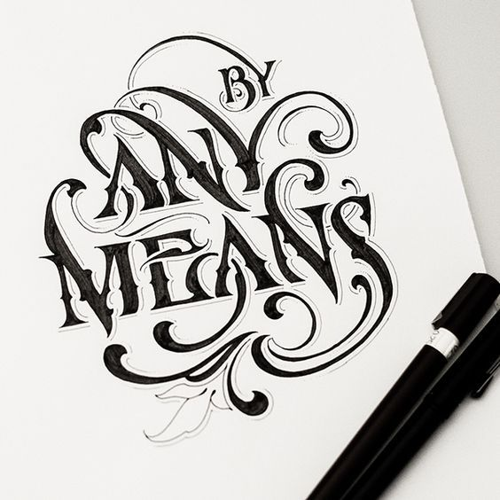 Lettering by Andreas Grey: