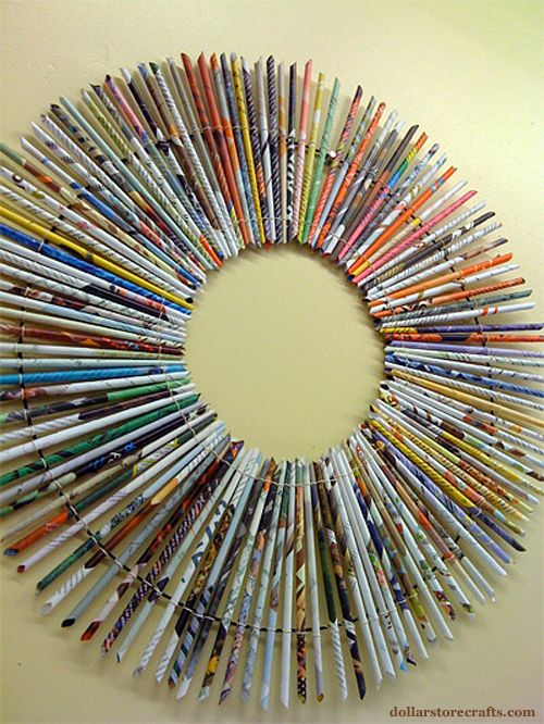 From Trash To Treasure Diy Magazine Rolled Paper Wreath
