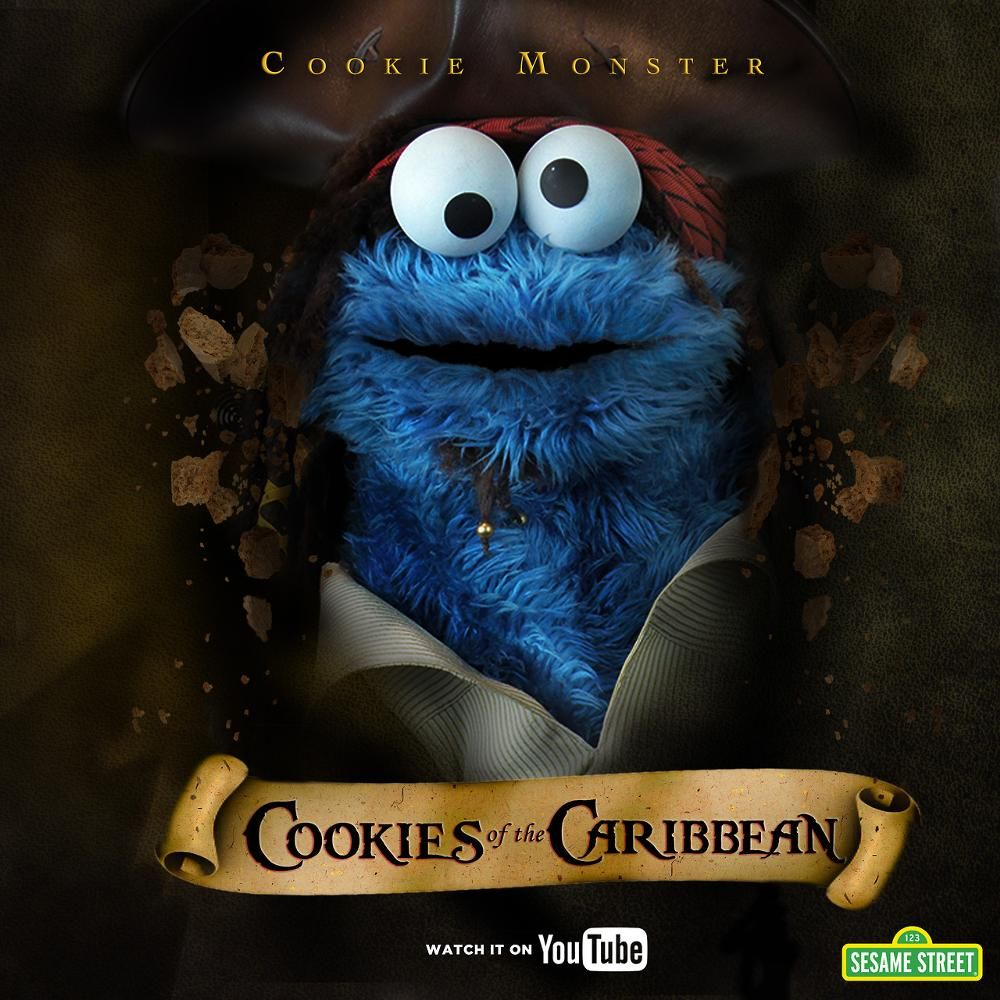 Cookie's Crumby Pictures | Muppets | Cookies, Skull art, Pirates