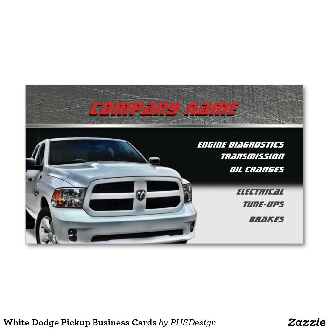 White dodge pickup business cards business card templates white dodge pickup business cards colourmoves