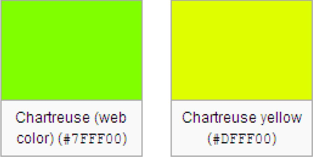 Show Color Chartreuse Google Search