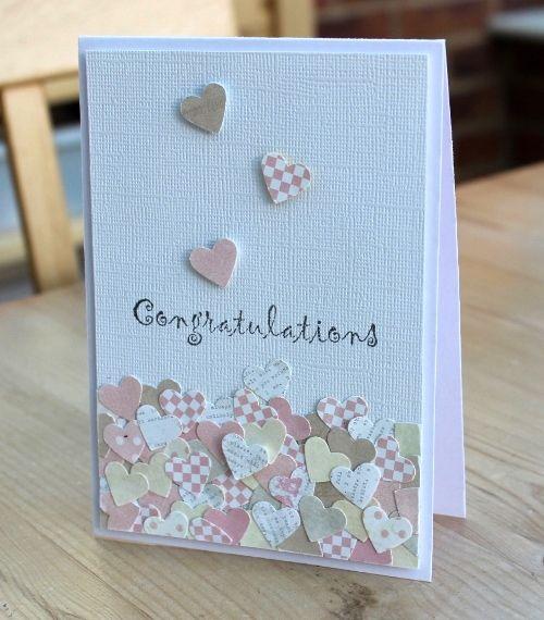 Confetti Wedding Congratulations Card Wedding Cards Handmade