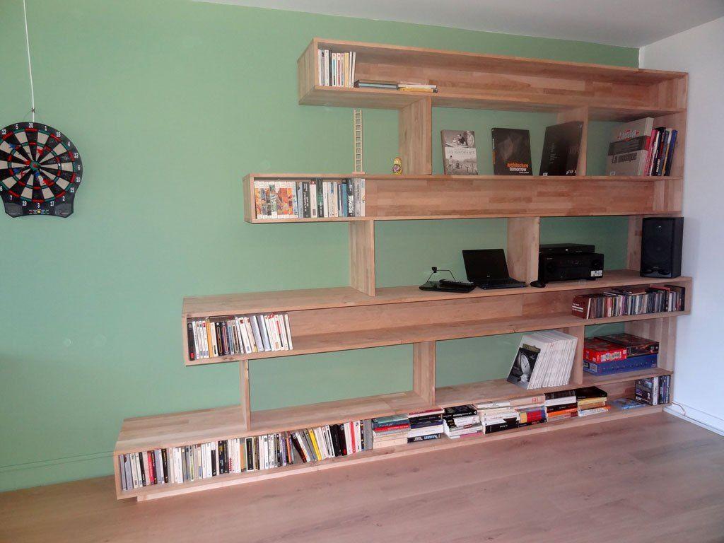 Fabriquer une bibliothèque (DIY) – la réalisation – part 45 ... - Bibliotheque Diy