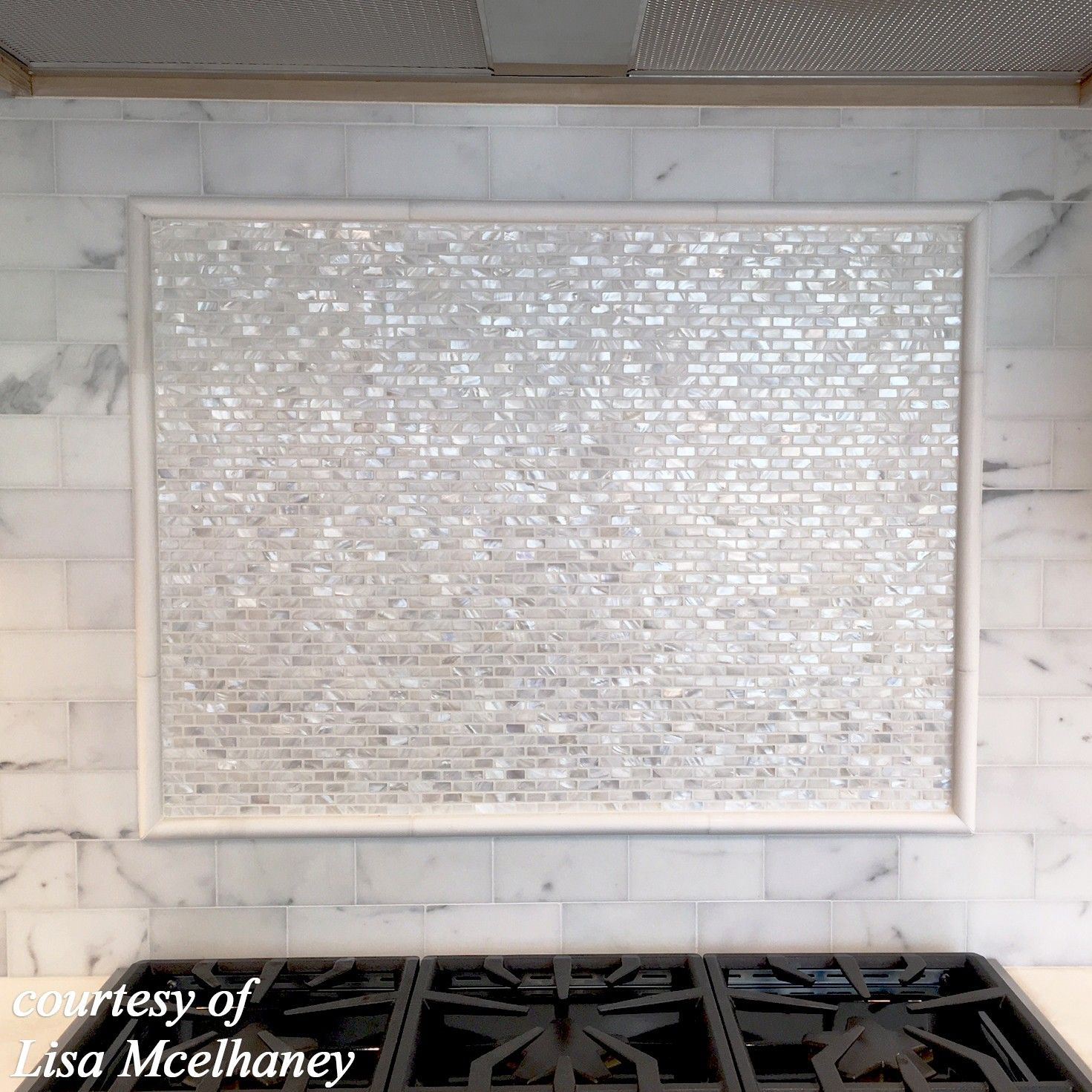 Mini Brick Oyster White Pearl Tile | Painted brick ...