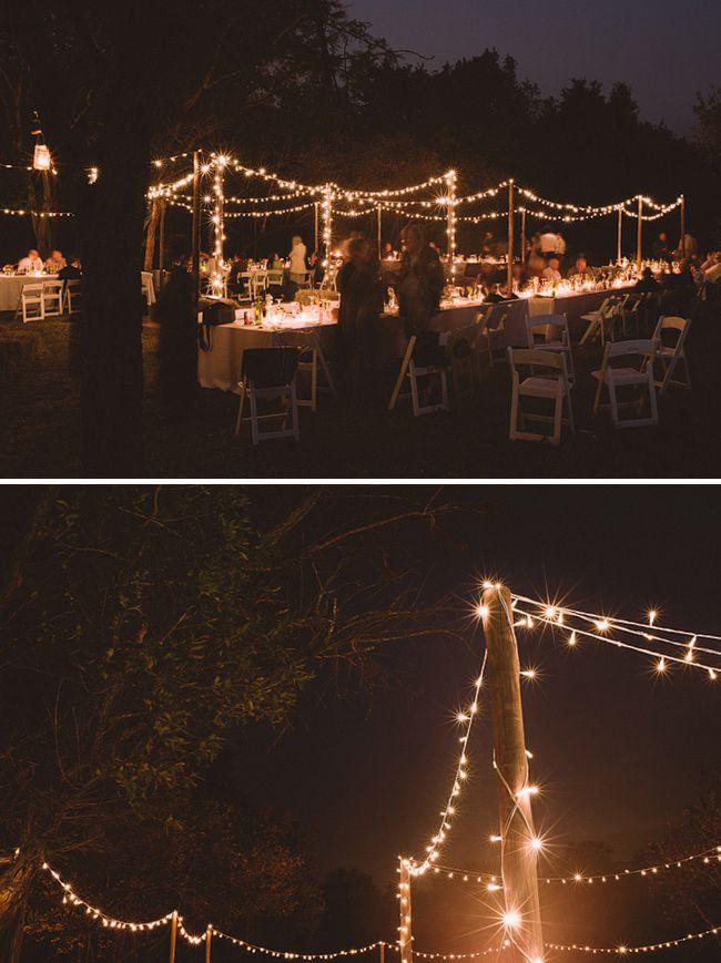 Just Enough Starlight Lanterns Twinkle Lights Bush Wedding