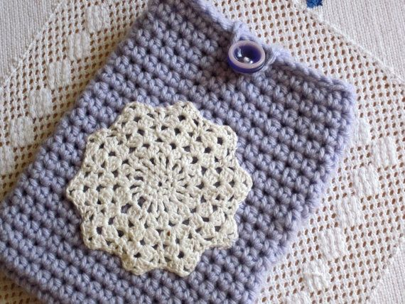Kindle Fire mini IPad tablet cover case crochet by divasvintage, $16.00