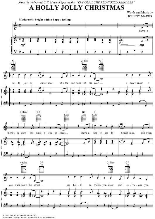Have A Holly Jolly Christmas Lyrics.Pin On Christmas Sheet Music