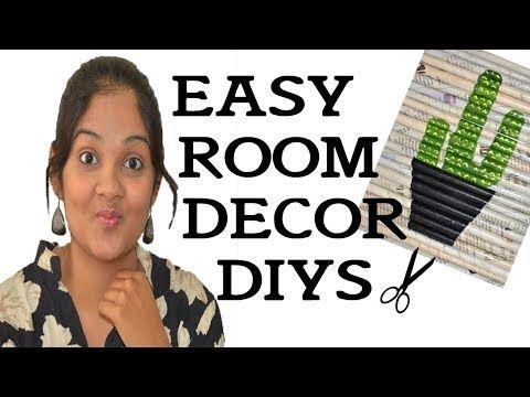 YouTube | Easy room decor, Diy room decor, Room diy