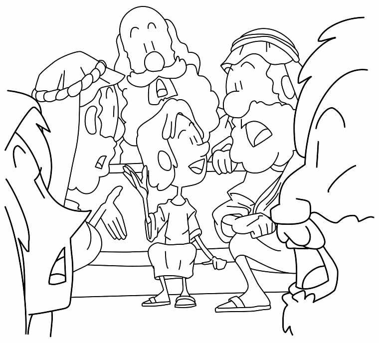Young Boy Jesus In The Temple Coloring Page Luke 2 41 52 With