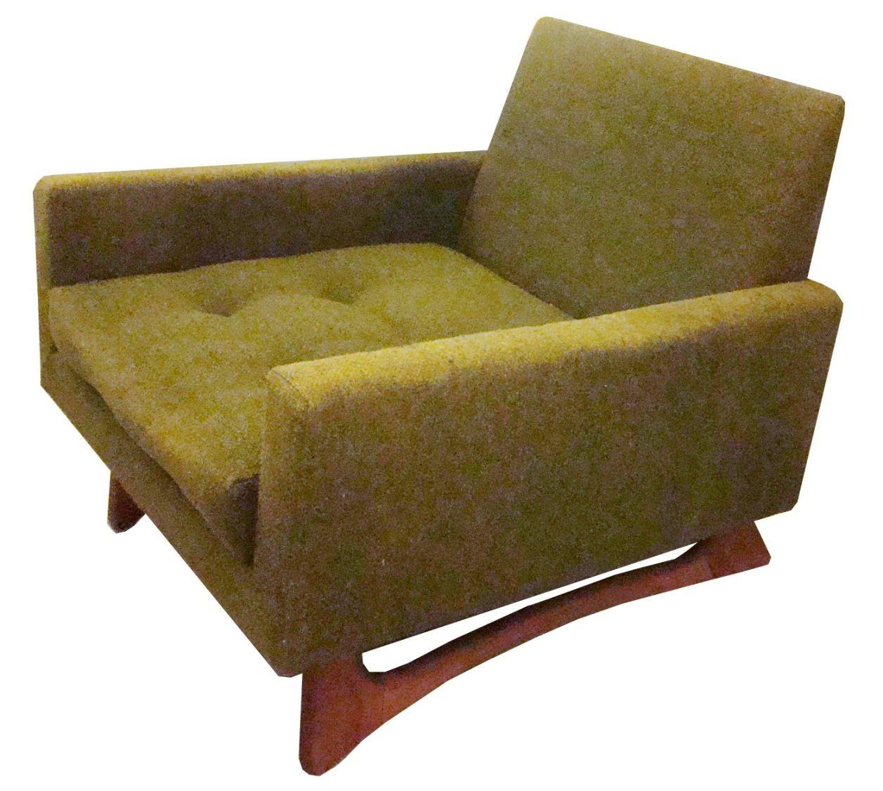 Attrayant High Quality Mid Century Modern Club Chairs | Adrian Pearsall Mid Century  Modern Club Chair Covered
