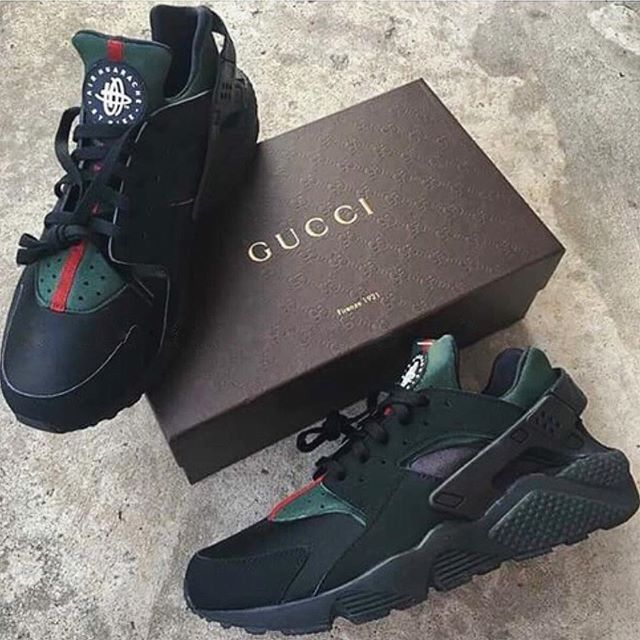 the latest 4322d a05ed custom Gucci huaraches or nah  x  millionmamas Huaraches, Gucci Huraches,  Nike Huraches