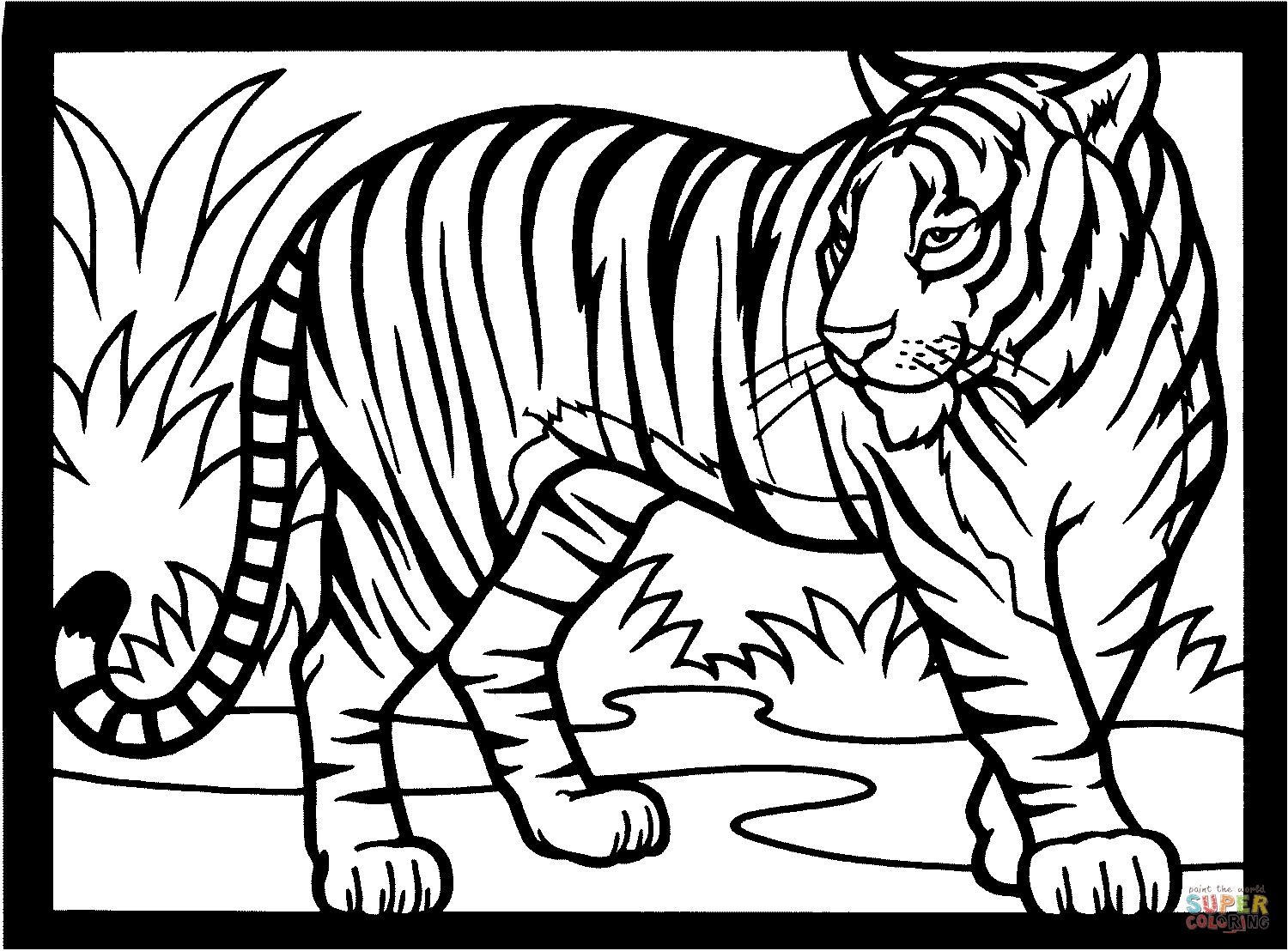 Tiger Coloring Page Tigers Coloring Pages Free Coloring Pages Albanysinsanity Com Tiger Drawing For Kids Tiger Drawing Animal Coloring Pages