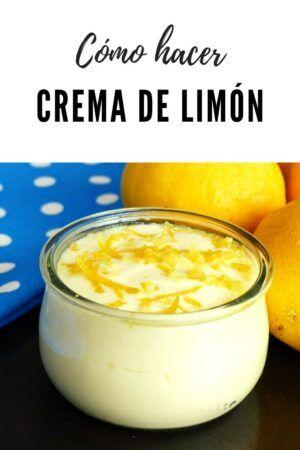 Crema de limón ✅️