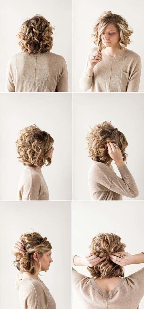 20 Erstaunliche Frisuren Fur Lockiges Haar Fur Madchen Frauen Blog Kurze Haare Hochsteckfrisuren Hochsteckfrisuren Kurze Haare Frisur Hochgesteckt