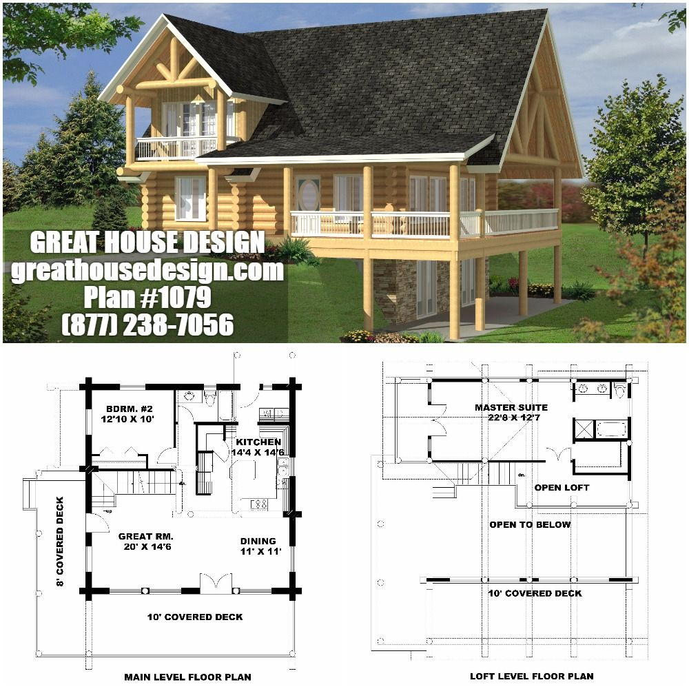 Home Plan 001 1079 Home Plan Great House Design House Plans Log Home Plans House Design