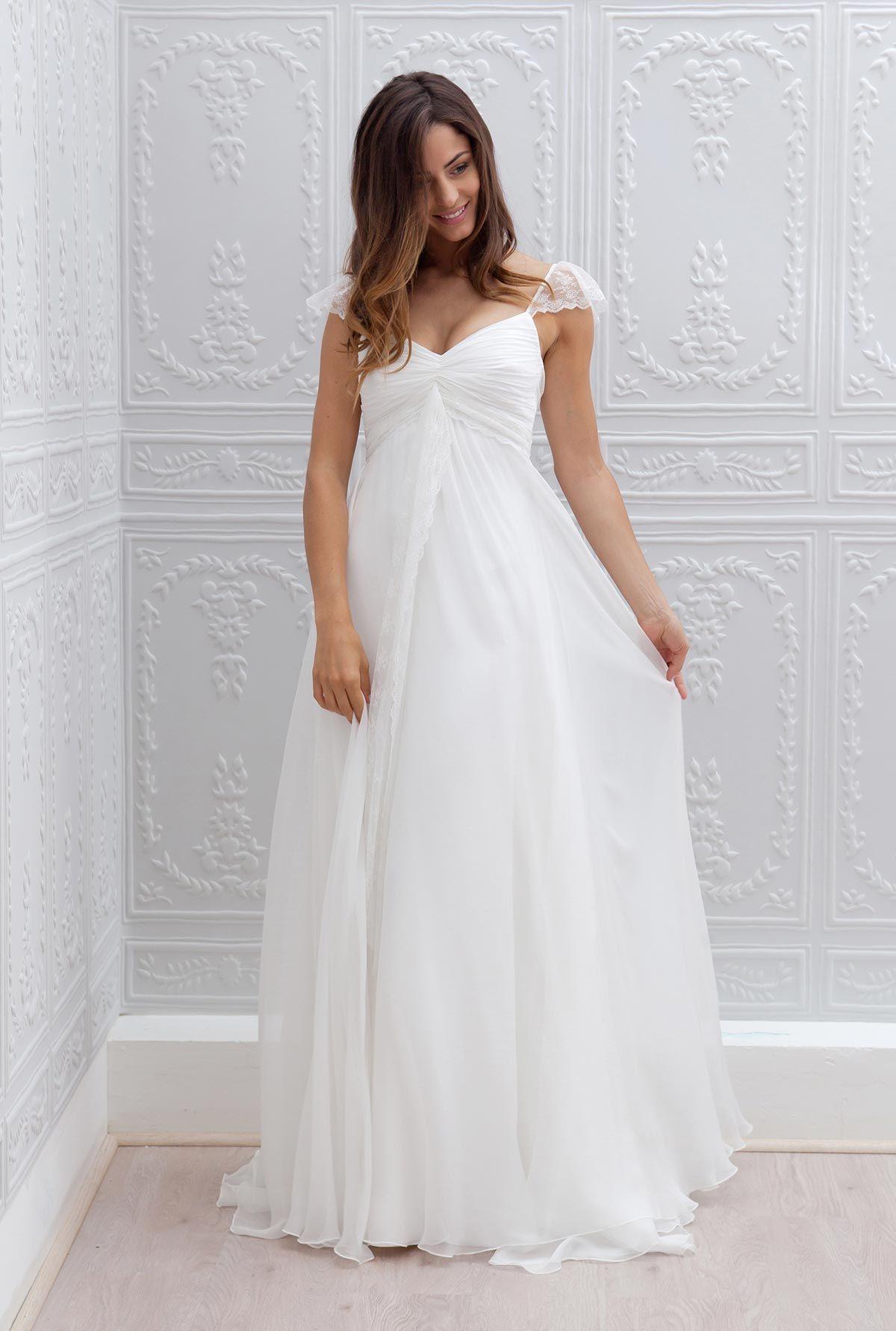 7a886a6cb Vestidos de novia para embarazadas - ¡Modelos preciosos!